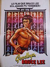 bruce lee GOODBYE BRUCE LEE !  model rare affiche cinema karate kung-fu