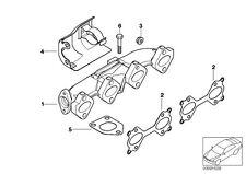 KIT 4 GUARNIZIONI COLLETTORE SCARICO BMW 330d X3 X5 525d 530d E60 E61