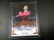 2012-13 Leaf Sports Heroes Amy Chow Olympics Autograph Auto Rare