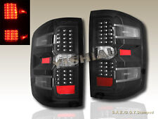 2014+ CHEVY SILVERADO 1500 BLACK HOUSING TAIL LIGHTS WITH LED NEW