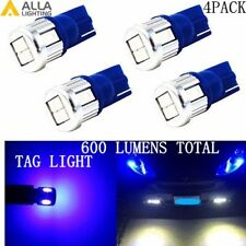 Alla Lighting 4x T10 Super Bright Blue LED License Plate Tag Light Bulb Lamp 194