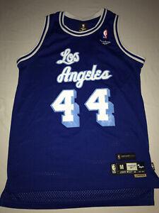 REEBOK Los Angeles Lakers Jerry West 44 NBA Basketball Jersey Size M Blue Stitch