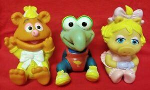 "1984 Hasbro Sesame Street Muppet Babies Gonzo Piggy Fozzy 4"" Vinyl Toy Figure"