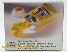 Winsor & Newton Oil Paint Assorted Winton Beginner Quality 6 Colors x 21 ml NEW