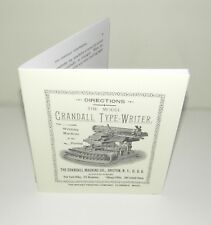 Crandall Typewriter Instruction Manual Reproduction