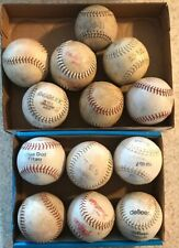 13Pc lot Vintage Softballs - Dudley Leather League Sport Decor Practice Hitting
