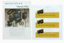 Hasselblad XPan catalogue objectifs 1999 + 3 stickers