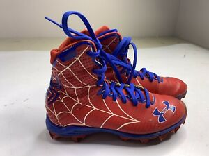 Spider-Man alter ego Football Cleats Under Armour Marvel Youth Boys Size 4Y