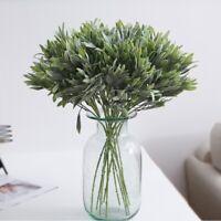 Artificial Olive Tree Branch Plant Plastic Green Leaf Garland Greenery Wedding