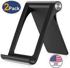 2x Adjustable Portable Desktop Phone Stand Desk Holder For iPad/iPhone/Tablet