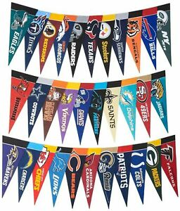 """NFL Mini Felt Pennant - 9"""" x 4"""" - CHOOSE YOUR TEAM Officially Licensed NEW"""