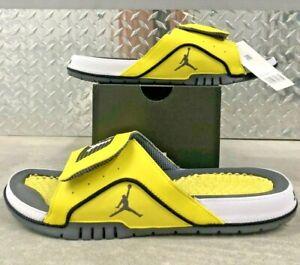 Nike Jordan Hydro IV 4 Retro Lightning Yellow Slide Sandals Sz 10-12  DN4238-701
