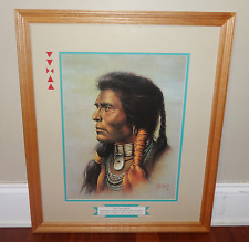 Vintage Bill Hampton Native American Man Framed Print