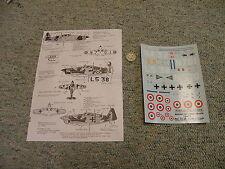 Decals Carpena decals 1/72 72.34 Morane Saulnier MS 406  N1