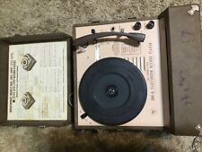 VINTAGE 1950's 4 SPEED AUDIOTRONICS 300 A CLASSROOM ALL TRANSISTOR RECORD PLAYER