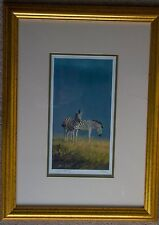 """SIGNED LTD EDITION wildlife print """" A SCENT OF RAIN """" (zebras) by GRANT HACKING"""