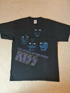 KISS- CREATURES OF THE NIGHT -TOUR TSHIRT -SIZE LARGE