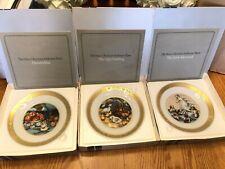 Royal Copenhagen Hans Christian Andersen 12 Collectible Plates Complete + Stands