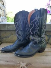 Nocona 6501 Black Bullhide Leather Western Cowboy Boots Men's 10 A Extra Narrow