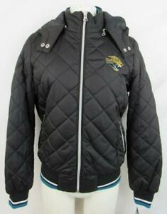 Jacksonville Jaguars Womens Size S M or L Hooded Quilted Winter Jacket AJJS 109