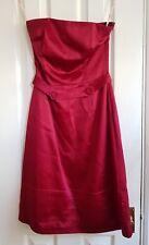 whistles red satin strapless dress 8