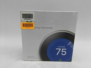 Nest 3rd Generation Programmable Thermostat T3008US Stainless Steel -JD0619
