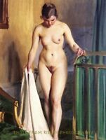 """Nude Woman in Bedroom, 8.5x11"""" Photo Print Naked Female Anders Zorn Painting Art"""