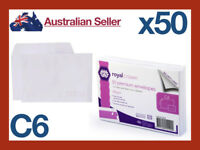 50 A6 C6 Premium Business White Paper Envelopes Mailer Peel Stick 162x114 mm NEW