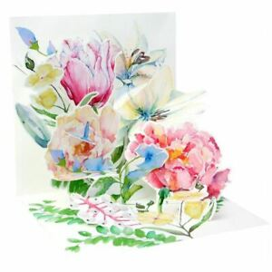 Pop-Up Greeting Card Trearures by Up With Paper - Watercolour Bouquet