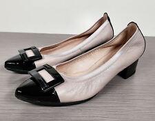 Hispanitas 'Omega' Pump, Nougat Leather & Black, Womens Size 8.5-9 / 39.5