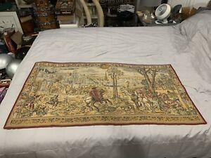 Tapestry Wall Hanging Medieval Brussels Belgium Tapisseries du Lion France VTG