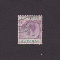 CYPRUS 1912 Sc# 63, Wmk 3, 'George V', Used