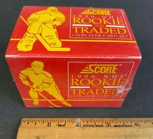 1990 SCORE NHL ROOKIE AND TRADED 110 PLAYER CARD SET FACTORY SEALED 71221