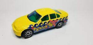 2001 Matchbox FORD FALCON - Spongebob Patrick Star Yellow Die-Cast Car