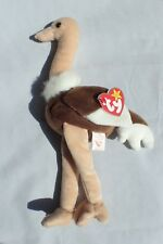 Ty Beanie Baby Stretch the Ostrich stuffed bird plush 1997