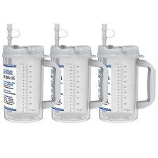 (3) 32 oz. Water Essential Insulated Mugs with Straws - BPA FREE Hospital Mugs