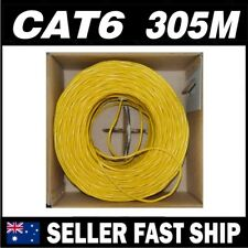 Yellow 305M CAT6 Network Ethernet LAN Cable Roll UTP Solid Core * Free Shipping*