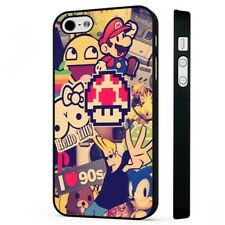 The 90s Collage Retro Cool BLACK PHONE CASE COVER fits iPHONE
