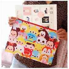 Tsum Tsum Disney Doble Cremallera Organizador De Documentos Con Cremallera Carpeta de archivo A4 Bolsa De Pluma