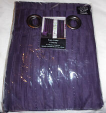 Purple, fully lined. eyelet curtains. size 46''W x 54''L. NEW