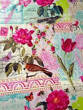 Michael Miller Belle Rosa Tela en pink.vintage, Shabby Chic, pretty.by la Fq