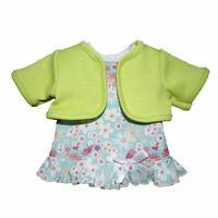 Schwenk Puppen Kleidung Kleid mit grünem Bolero für 24 - 26 cm Puppen, Nr. 10124