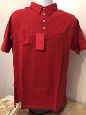 NWT Southern Proper Men's Polo Golf Tourney Shirt Rich Red Pocket Size XXL