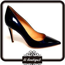 Versace 19.69 Milano Ladies Pump Heels Vernice Metal Blue Size 35