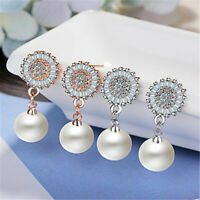 10mm White Round Shell Pearl Copper Earring Ear Stud Jewelry Classic Real Party
