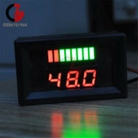 Red LED 5-15mA Indicator Voltmeter Battery Charge Capacity Monitor 48V Lead-acid