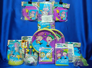 Fairly Odd Parents Party Set # 16 Plates Napkins Hats Banner Tablecloth Invites
