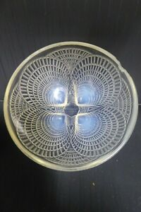 ANTIQUE DECO SIGNED RENE LALIQUE FRANCE COQUILLES CRYSTAL GLASS DISH SHELL BOWL