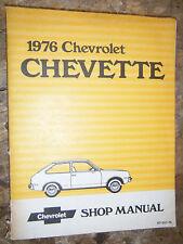 1976 CHEVROLET CHEVETTE ORIGINAL FACTORY SERVICE MANUAL SHOP REPAIR