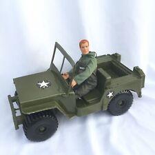 "Vintage 1973 Empire Tarboro, NC GI Joe Green Army Military Jeep and 12"" Ace 1992"